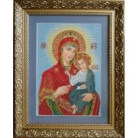 """Рисунок на канве для вышивания бисером """"Венчальная пара Богородица"""