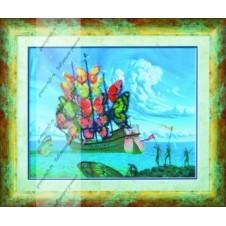"""Схема для вышивания бисером """"По мотивам В. Куш Отплытие корабля бабочек"""""""