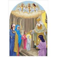 Схема для вышивания бисером введение Богородицы