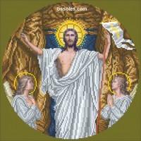 Схема для вышивания бисером Воскресение Христово (С)