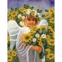 """Набор для вышивания лентами """"Девочка-ангел"""""""