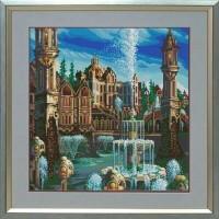 """Дворец"" Рисунок на ткани"