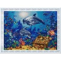 """""""Морские сокровища"""" Рисунок на ткани"""