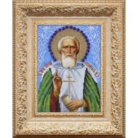 Икона бисером Преподобный Сергий Радонежский