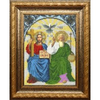 Икона бисером Новозаветная Троица для вышивки бисером L-152