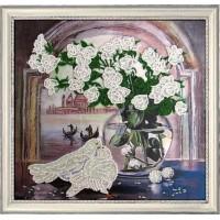 """Набор для вышивания бисером """"Розы и голуби (по картине Е. Самарской)"""""""