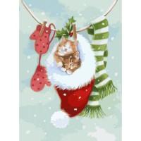 Картины по номерам - Пушистые котики(КНО2495)
