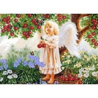 """Набор для вышивания лентами """"Ангел в волшебном саду"""""""