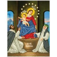 Схема для вышивания бисером Богородица помпейской (частичная)
