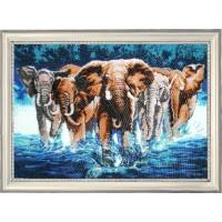 """Набор для вышивания бисером """"Африканские слоны"""""""