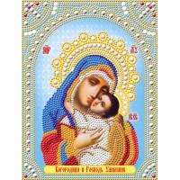 """Алмазная вышивка """"Богородица и Господь Умиление"""""""
