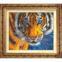 """Набор для вышивания бисером """"Взгляд тигра""""(полное заполнение бисером)"""