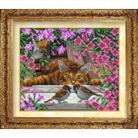 Набор для вышивания бисером Искушение кота Василия