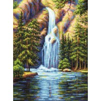 """Алмазная вышивка """"Водопад в горах"""""""