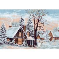 """Схема для вышивания крестиком """"Зима"""""""