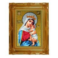 Икона бисером Божией Матери Отчаянных единая надежда