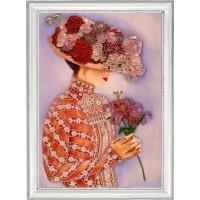 """Набор для вышивания бисером """"Дама с лилиями"""""""