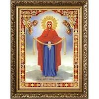 """""""Богородица Покрова"""" Рисунок на ткани"""