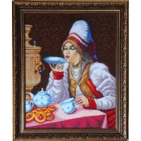 """Набор для вышивания бисером """"За чаем"""""""