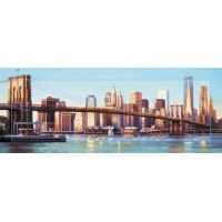 """Алмазная вышивка """"Бруклинский мост днём"""""""