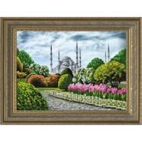 """""""Голубая мечеть"""" Рисунок на ткани"""