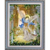 """Ангел и голуби"" Рисунок на ткани"