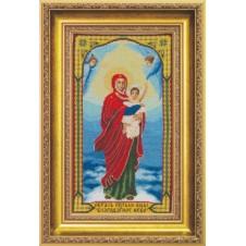 """Набор для вышивки крестиком  """"Икона Образ Пресвятой Богородицы Благодатное Небо"""""""