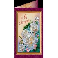 Набор для вышивки бисером «Открытка» 8 Марта-1