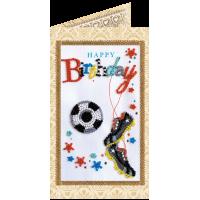 Набор для вышивки бисером «Открытка» Моему футболисту