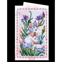Набор для вышивки бисером «Открытка-конверт» Единорожки