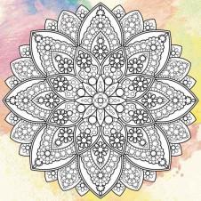 Дзен рисование Мандала счастья. Антистресс раскраска (DZ501/510)