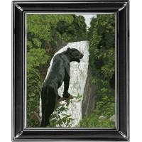 """Набор для вышивания крестиком """"Черная пантера 1"""""""