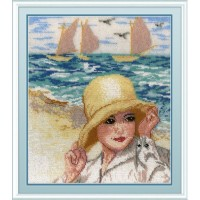 """Набор для вышивания бисером на канве """"Дама у моря"""""""