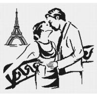 """Набор для вышивания крестиком """"Поцелуй в Париже"""""""