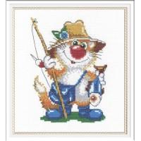 """Набор для вышивания крестиком """"Кот-рыбак"""""""