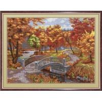"""Набор для вышивания крестиком """"Осенний парк"""""""