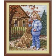 """Набор для вышивания крестиком """"Первый снег"""""""