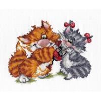 """Набор для вышивания крестиком """"Рыжий кот. Подарок"""""""