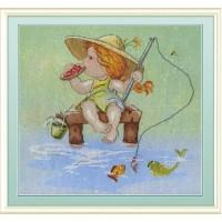 """Набор для вышивания крестиком """"На рыбалке"""""""