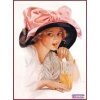 """папертоль """"Дама в шляпе с бантом""""."""