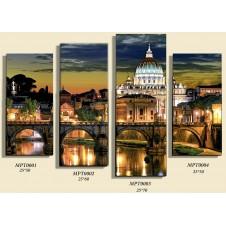 """папертоль """"Вечер в Риме"""" комплект 4 части"""