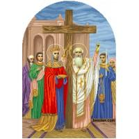"""Схема для вышивания бисером """"Воздвижения Честного креста (иконостас)"""""""