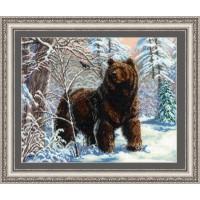 """Набор для вышивания бисером """"Медведь и синичка"""""""