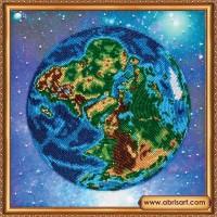 """Набор для вышивания бисером """"Планета Земля"""""""
