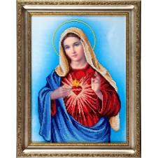 """Рисунок на ткани для вышивания бисером """"Непорочное Сердце Марии"""""""