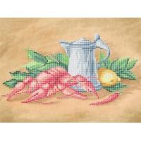 """Рисунок на ткани для вышивания бисером """"Раки"""""""