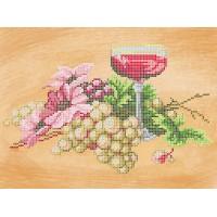 """Рисунок на ткани для вышивания бисером """"Вино и виноград"""""""
