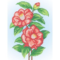 """Рисунок на ткани для вышивания бисером """"Китайская роза"""""""