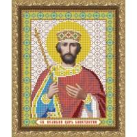 """Рисунок на ткани для вышивания бисером """"Св. Великий Царь Константин"""""""
