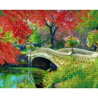 """Рисунок на ткани для вышивания бисером """"Дворцовый парк"""""""